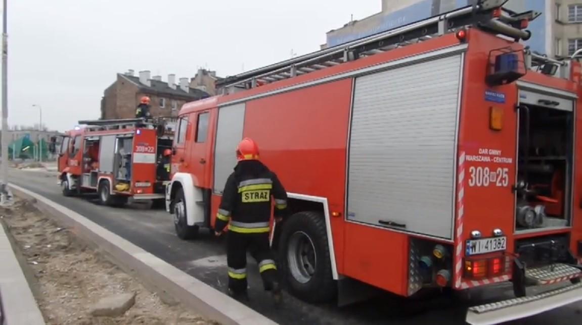 giżycku, wrocławiu, tramwaj, spłonął, strażacy w akcji, straż pożarna