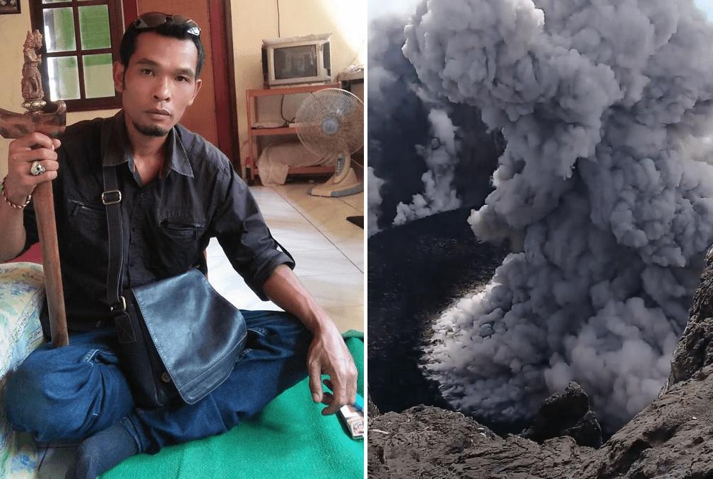 wnętrze wulkanu agung, wulkan, bali erupcja
