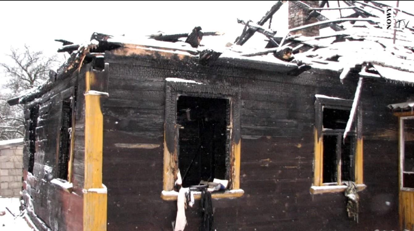 wielkopolska, spalony dom i trzy zwęglone zwłoki