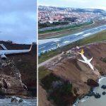 METRY OD TRAGEDII! Wielki Boeing wypadł z pasa wprost w PRZEPAŚĆ! Na pokładzie ponad 160 osób [VIDEO]