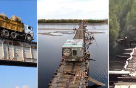witim most na rzece w syberii