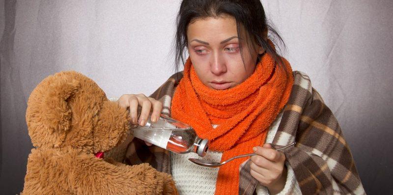 przeziębiony, grypa, choroba, zdrowie