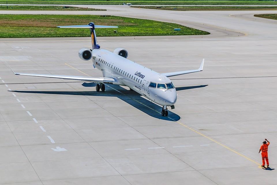 pasażer, samolot, drzwi ewakuacyjne, lotnisko