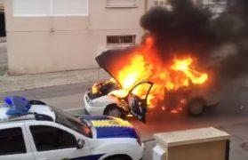 samochód pożar, córeczkę