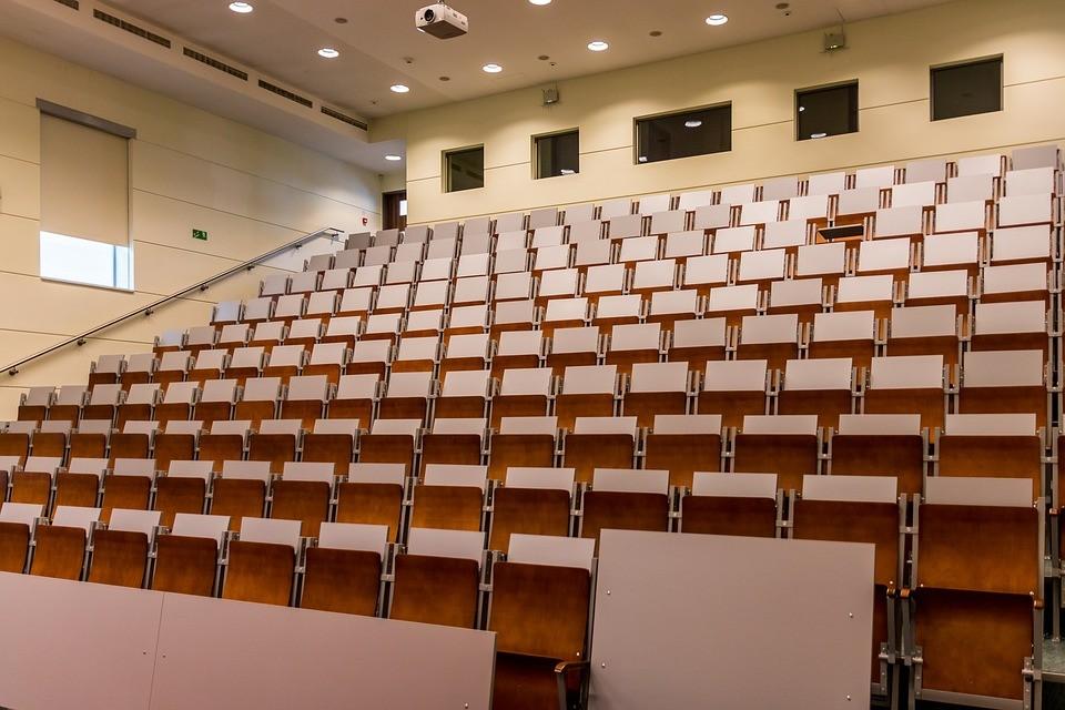 uniwersytet, aula, sala wykładowa