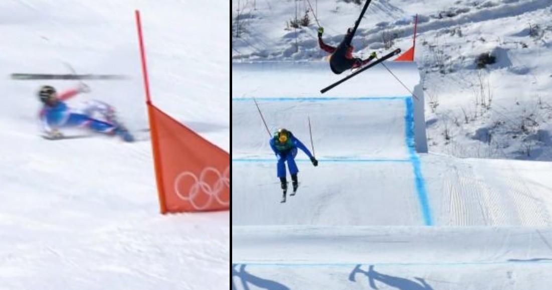 wypadki, pjongczang, igrzyska, skicross