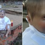 Idealna lalka na Halloween: znaleziona na cmentarzu wygląda naprawdę przerażająco! [VIDEO]