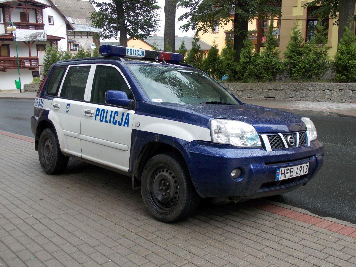 dokumenty, pieniędzy, policjanci, policja, radiowóz