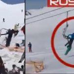 KOSZMARNA awaria wyciągu narciarskiego! Uszkodzone krzesełka MIAŻDŻYŁY narciarzy! [VIDEO]