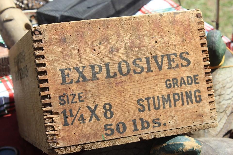 dynamitu, dynamit, materiały wybuchowe