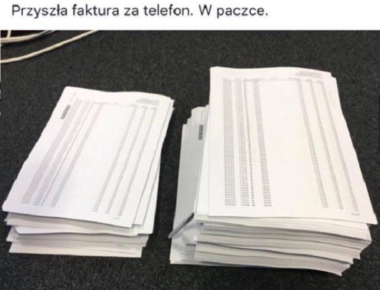 Faktura za telefon miała 3 TYSIĄCE STRON. Kwota do zapłaty ROZKŁADA NA ŁOPATKI – jak to możliwe?