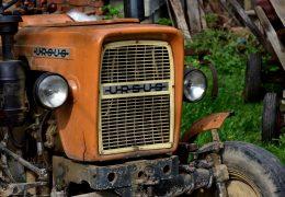 rolnik, traktorem