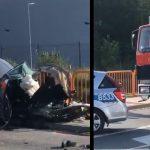Nowa Ruda: OKROPNY wypadek, auto ROZPADŁO SIĘ NA KAWAŁKI, w środku było pięć osób! [VIDEO]