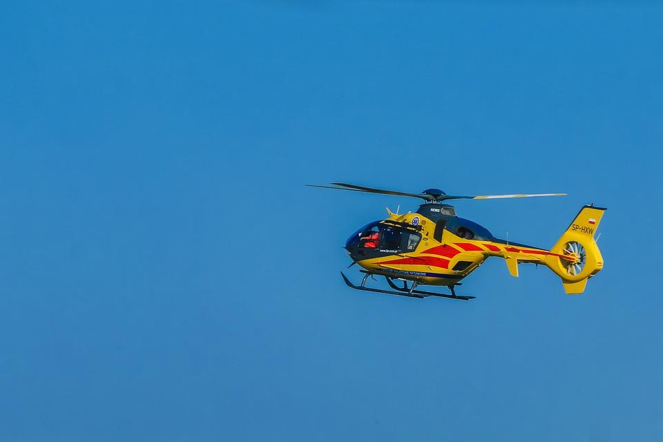 wypadek, helikopter, pogotowie ratunkowe