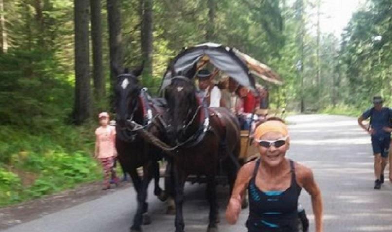 biegaczka, 75-latka