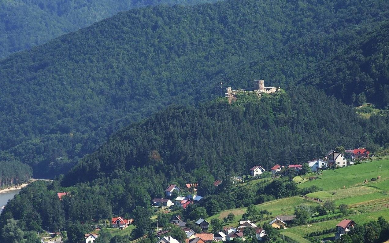 rytro, zamek, schadzka, zamku rytro panorama