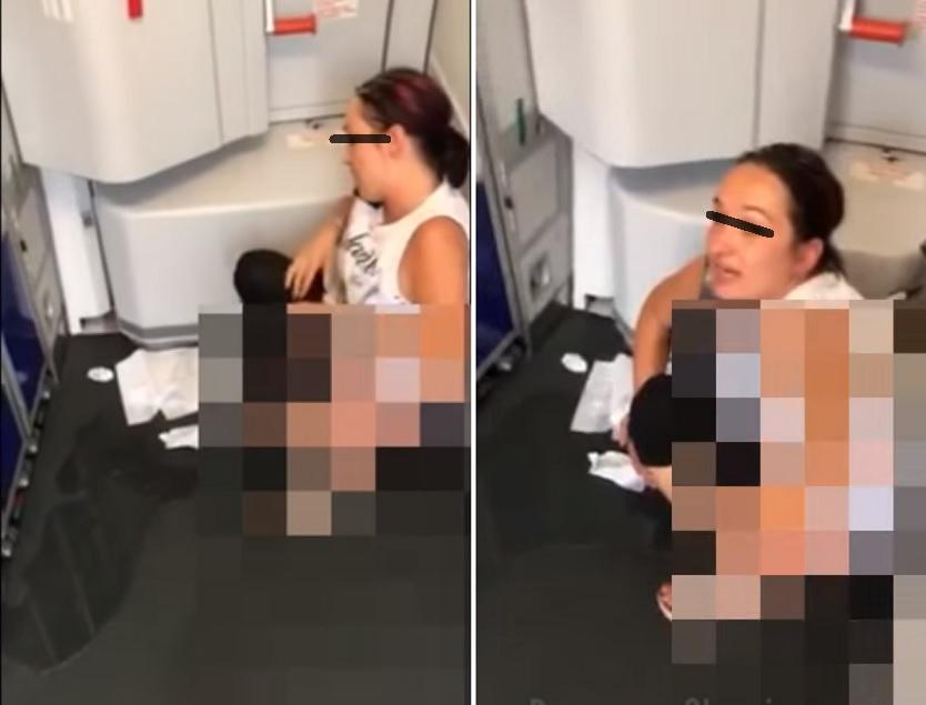 zesikała się w samolocie