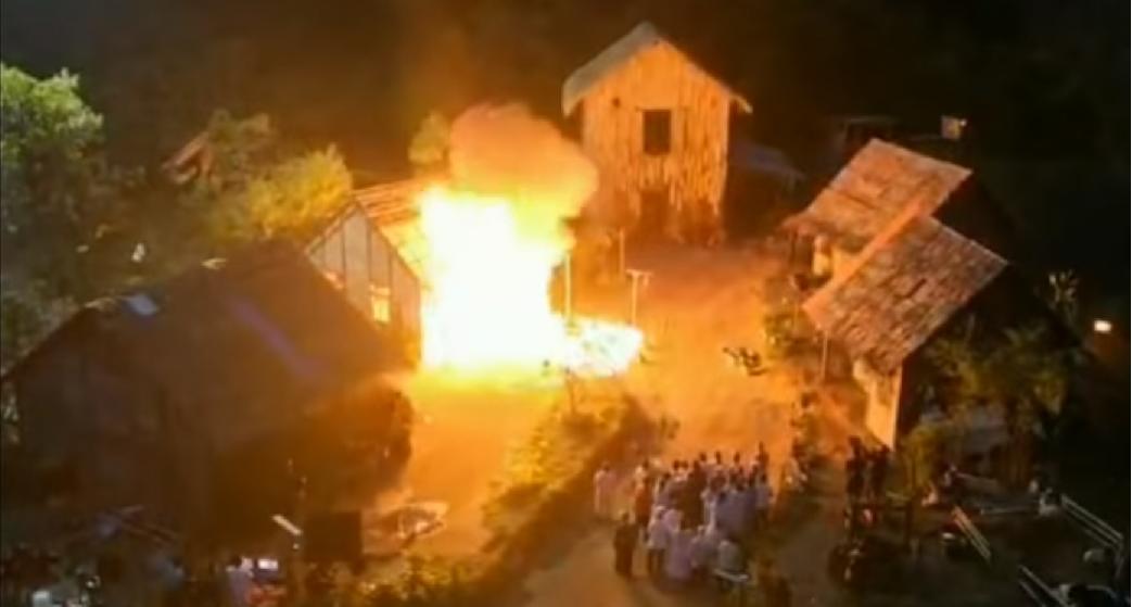 pożaru scenę kręcić mieli i się nie udało...