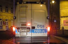 policja, łódź, stłuczka kolizje