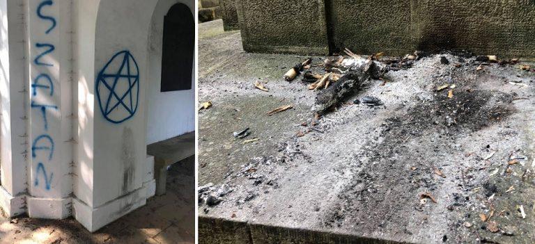 Małopolska: horror na żywo. SATANIŚCI zdewastowali cmentarz! [FOTO]