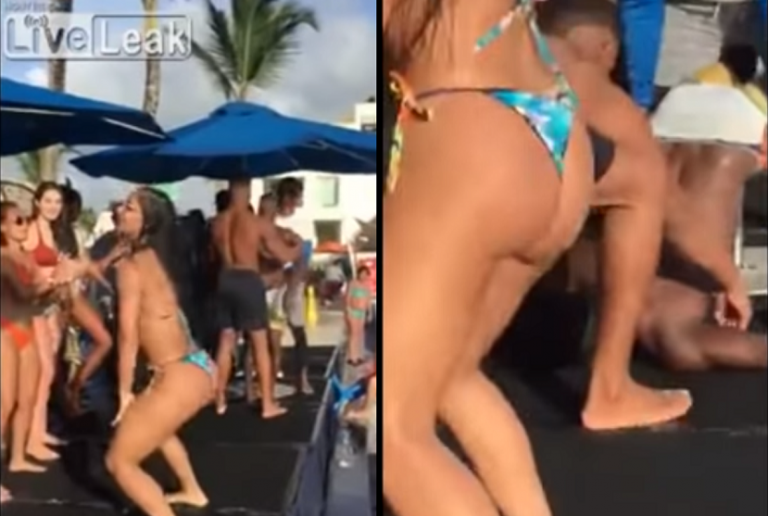 Gdy zobaczył jak ona się rusza, zwaliło go z nóg – dosłownie! To nagranie to hit Internetu! [VIDEO]