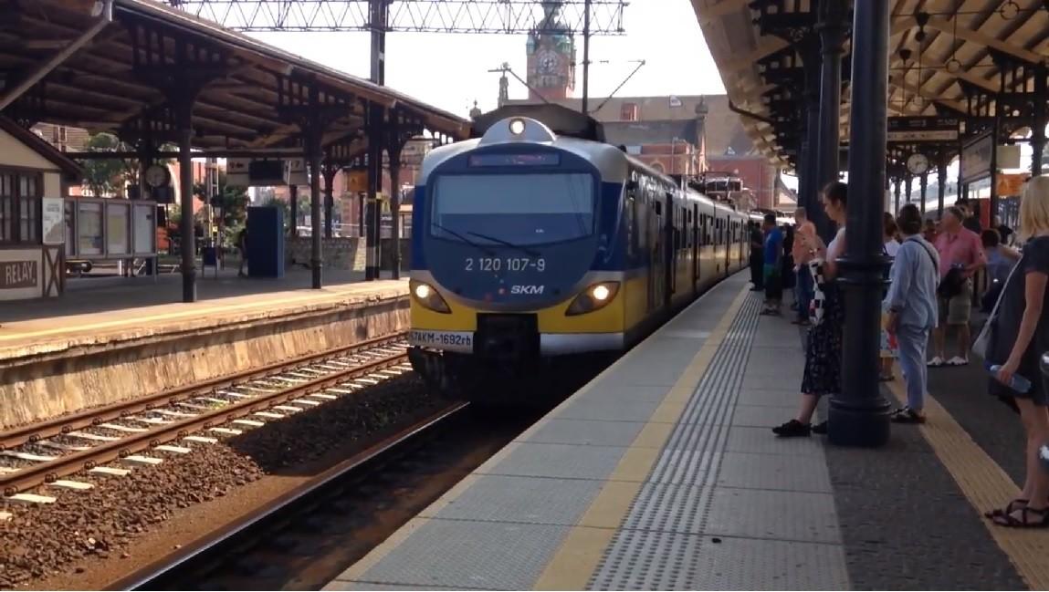 bójka w pociągu SKM