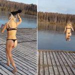 Piękna blond Rosjanka i lód – to nie mogło się udać! A co gorsza, skończyło się boleśnie… [VIDEO]