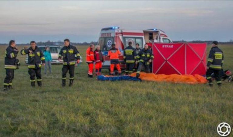 Nowy Targ: horrendalny wypadek. Motocyklista zderzył się z lądującym szybowcem!