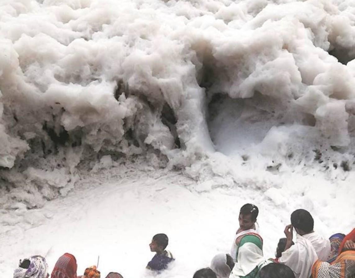 na zdjęciu rzeka Jamuna