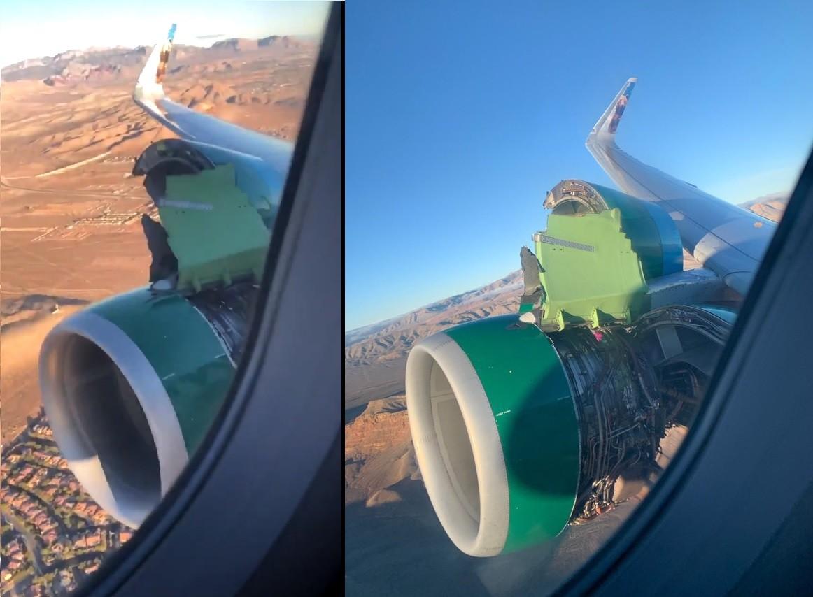 uszkodzony silnik airbusa