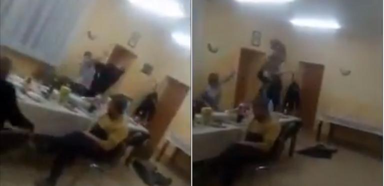 SOŁTYS pokłócił się z ŻONĄ. Talerze i krzesła FRUWAŁY – wstrząsające VIDEO!