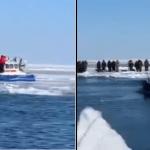Rosyjscy wędkarze łowili na lodzie. Nagle stało się coś STRASZNEGO