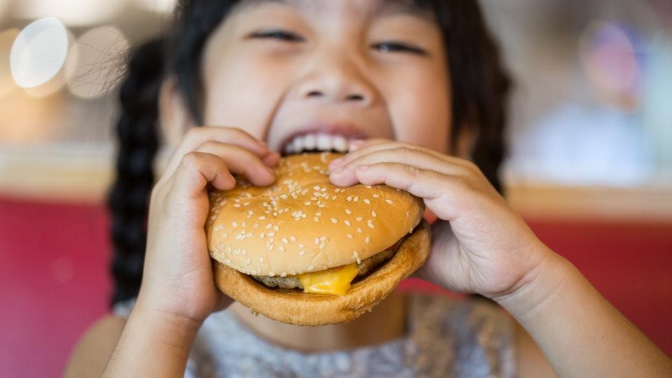 te produkty, fast food, hamburger