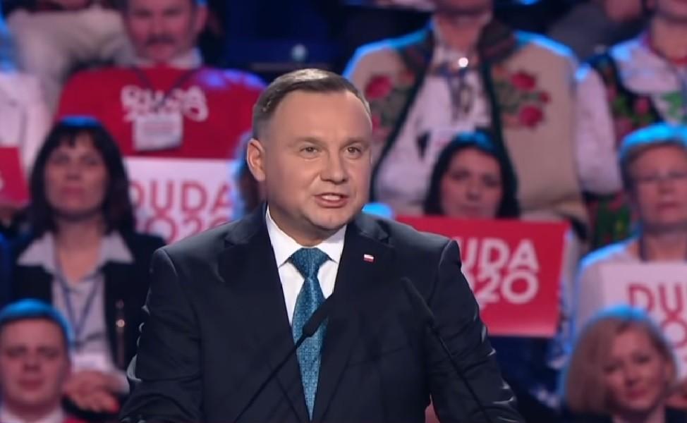 Andrzej Duda w trakcie swojej konwencji