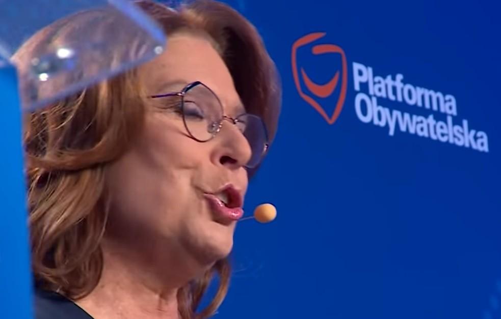 Małgorzata Kidawa-Błońska (PO) zaliczyłą wpadkę