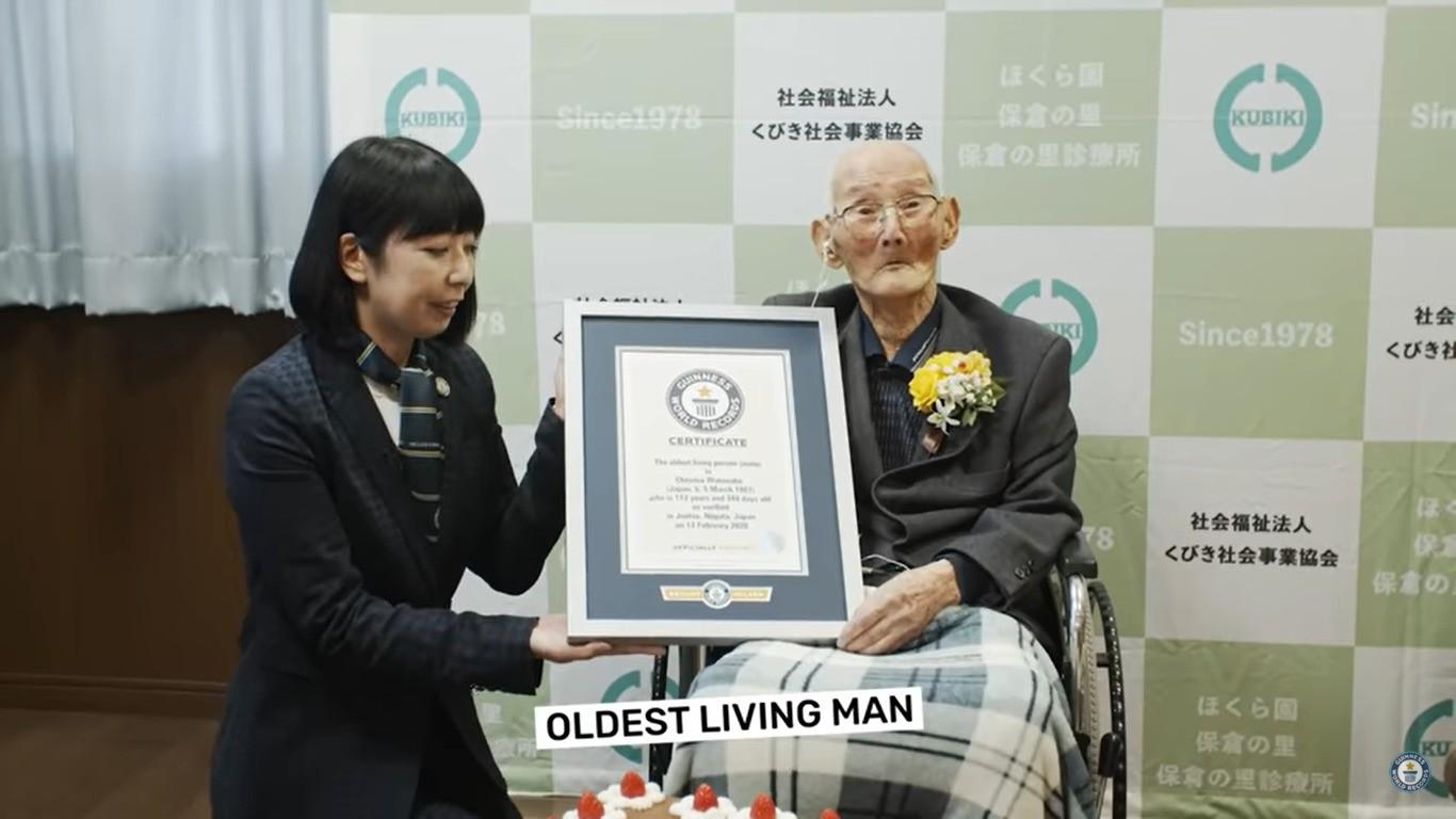 najstarszym mężczyzną