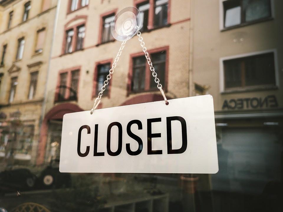 serwis, zamknięty