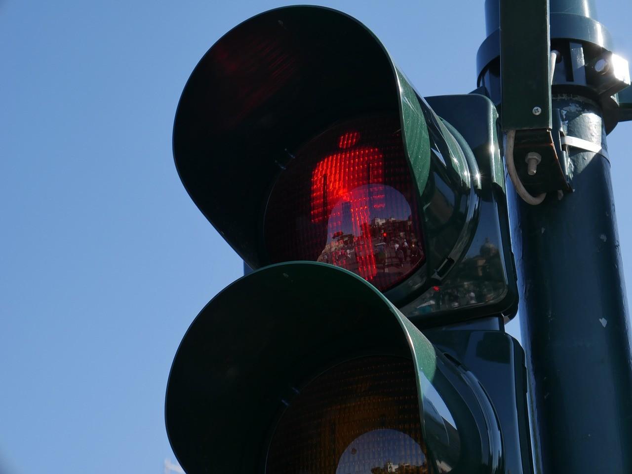 czerwonym świetle