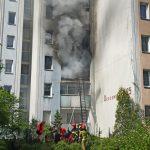 Pożar w Warszawie. Mężczyzna wyskoczył z okna!