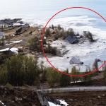 W Norwegii domy wpadły do morza! Zobacz!