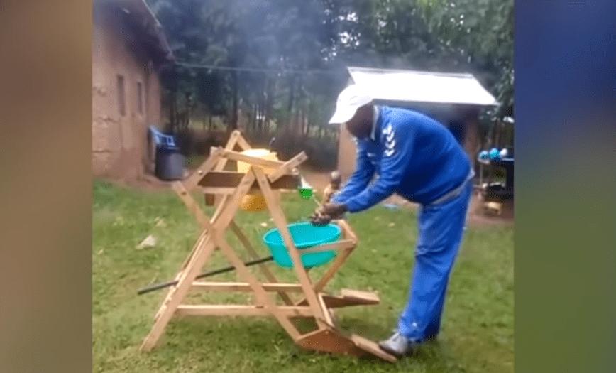 wynalazek do mycia rąk z Kenii