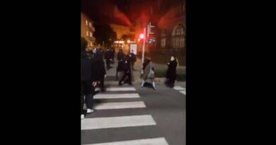 Grupa mężczyzn zaatakowała protestujących. Użyta została siła (WIDEO)